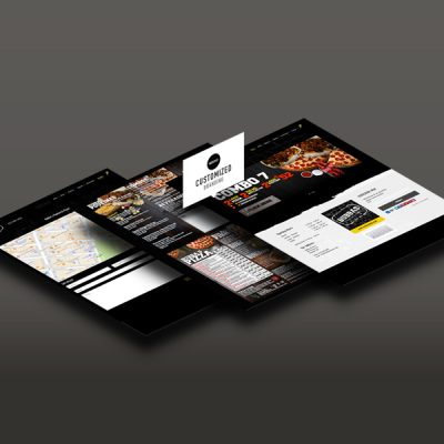 Bubbas Pizzeria Website and Menu Design