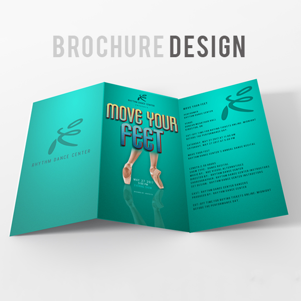 Rhythm Dance Center Brochure Design